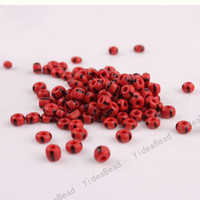 Wholesale 180pcs NEW Arrival Red Mini Glass Seed Beads Handcraft Loose Spacer BAEDS Fit Bracelets mm