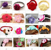 Children' s hair accessories baby girl crochet headbands...