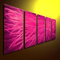 Wholesale Metal Modern Abstract Art Oil Painting art Sculpture Decor original art metal painting wall
