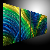 plate aluminum wall sculpture - Oil Painting art metal painting wall Metal Modern Abstract Art Sculpture Decor original art