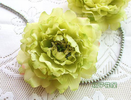Silk Peony Flower Heads Dia. 14cm 50pcs Artificial Flowers Single Head Peonia Rose flower ball and DIY Jewelry Accessories