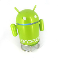 2 google android mini speaker - Google Android Robot Mini Speaker with TF Card Slot FM Raido with Retail Package pc