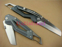 Wholesale Bottle Opener Serrated Edge Folding Pocket Knife GERBER Crevice Multifunctional