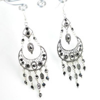Wholesale Jhumka Earrings Fashion Alloy Vintage Jewelry Chandelier dangle Earrings Hook With Tassel ER E