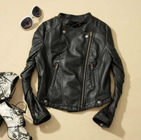 fashion leather jacket - New Fashion Women Faux Leather Zip Up Cropped PU Leather Jacket Biker Jacket