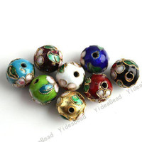 Wholesale Free EMS Mixed Assorted Cloisonne Charms Beads Carve Flower Filligree Beads mm