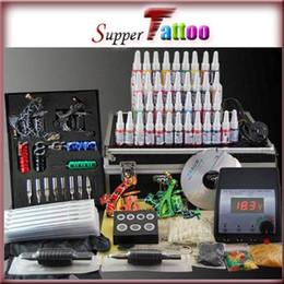 Complete Tattoo Machine Kit 4 Machines Guns Power Supply Set 40 Colors Ink Tattoo Use