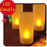 Wholesale Sound Control New Flicking LED Electronic changing color candle Light