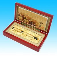 Wholesale JINHAO TWO GOLDEN DRAGON B NIB VERY ATTRACTIVE FOUNTAIN PEN