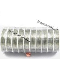 Cord & Wire   DIY 0.3mm rhodium Copper Tiger Tail Beading Wires Cord Finding Memory wire Jewelry Cord 10pcs