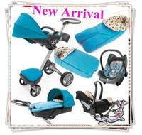 Cheap New Arrival--4 wheels Baby Jogger Best Stroller Handcart Stroller Jogger Pram Luxury Package+Babycot