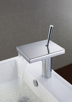 Waterfall bathroom washbasins - Bathroom Waterfall Sink faucet Cold and Hot Washbasin Mixer Chrome Finished Water Tap NY02720a