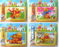 Wholesale pc new cartoon pooh brae watches and wallet sets