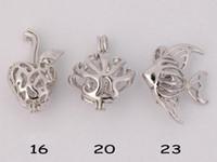 WG44 Bijoux Teboer 20pcs Vente en gros Designs différents Amour Wish Pendentifs Pendentifs Pendentifs Locket Cages Mixed Styles