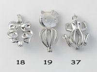 WG45 Bijoux Teboer 20pcs Vente en gros Pendentifs Pendentifs Modèles différents Créations Love Wish Perles Cages Styles mélangés