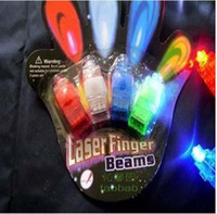 Wholesale finger Led finger LED Laser Finger light Beams Ring Torch for Party Silicone tape Pack