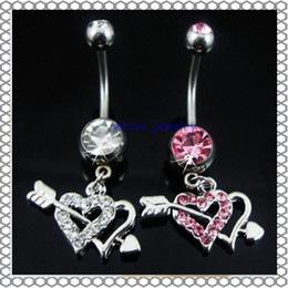 Wholesale 0361 body piercing jewelry Belly Button Navel Rings Body Piercing Jewelry Dangle Accessories Fashion Charm Cupid Love