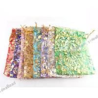 Wholesale 160 Mixed Jewelry Box Luxury Organza Jewelry Pouches Gifts Bags For Ring Wedding Gifts DIY