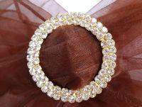 Wholesale 10PCS Wedding Chair Sash cm Circle GOLD A GRADE Diamante Buckle wedding party decoration hot selling