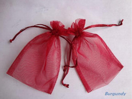 Wholesale Factory direct sale x15cm Crimson RED Sheer Organza Wedding Favour Gift Bag