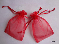Wholesale x15cm RED Sheer Organza Wedding Party Banquet Favour Gift Bag