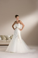 Wholesale Tube Dress neckline wedding dresses gowns Ball Gown wedding gowns Custom Satin MJK