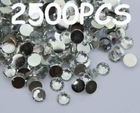 Nail Art 3D Decoration Nail Art Rhinestones  2500 pcs 3mm Clear Flat Back Resin Rhinestones Gems