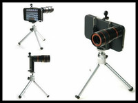 Wholesale 8X Zoom Mobile Phone Telescope Mini Tripod Stand for Phone Camera Lens Black White