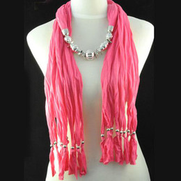 women jewelry beads pendant scarf necklace multi strand design silver charms neck scarf for her gift NL-1334C
