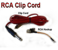 Wholesale 5pcs retail RCA tattoo clipcord with hookup for tattoo Machine