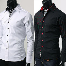 Wholesale New Mens Shirts Casual Slim Fit Stylish Mens Dress Shirts US Szie XS S M
