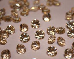 1000pcs wedding 1 3 CT Diamond Table Scatter Crystal Confetti Decoration Gems pick gold 4.5mm