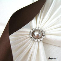 Wholesale 2011 HOT mm Brown Pearl A Grade Circle Rhinestone Diamante Cluster Craft wedding Decor