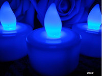 Wholesale HOT BLUE Tea Light LED Candle Lamp Wedding Patty Decor hot sell and good quanlity