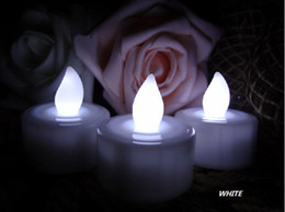 Wholesale 24PCS White Tea Light LED Flameles Candle Lamp Wedding Patty Decoration hot selling