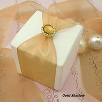 shadow boxes - 2011HOT new arrival Gold Shadow brads Scrapbook Wedding Favor Box DIY Craft