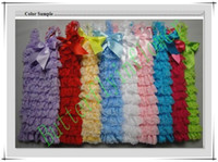 Wholesale Cute baby rompers posh petti romper with satin colorful ribbon colors sizes