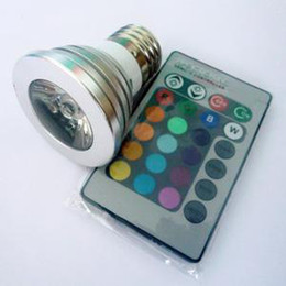50PCS 3W E27 16 Color 80LM LED RGB Magic Light Bulb with Wireless Remote Control