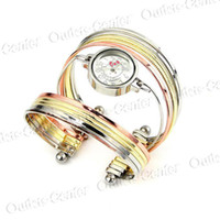 Wholesale Bangle Bracelet Quartz Wrist Watch W Multiple Metal Loops for Women Lady Girl Good Quality