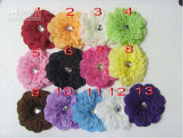 Wholesale beautiful inch peony Gerber Peony baby hair bows Children s clip girl flowers bands
