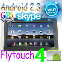 Wholesale Flytouch GB Android quot tablet pc GPS WIFI webcam Infortm ARM11 Multi task superpad MID