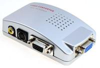 Wholesale Pieces PC VGA to TV Video AV Signal Converter video Switch Box
