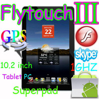 Wholesale Flytouch quot Android market tablet pc GPS WIFI Camera flash G X220 ARM11 SuperPad