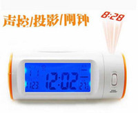 Wholesale Whole sale freeshipping LED Projector Clock Projection Projection clock Voice activated sensor