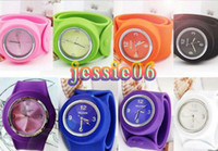 Wholesale Backslap watch Fashion Silicone Snap Slap Sport Watch Watches SS COM Men Womens Hot C