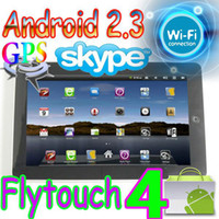 Wholesale 2pcs Flytouch Android market quot tablet pc GPS WIFI Camera flash Infortm X220 ARM11 superpad