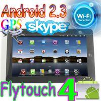 Wholesale 4pcs Flytouch Android market quot tablet pc GPS WIFI Camera Infortm X220 ARM11 G superpad