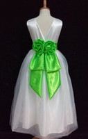 Wholesale mermaid flower girl dress wedding pageant birthday satin Bridesmaid wasit belt romoveable for Y