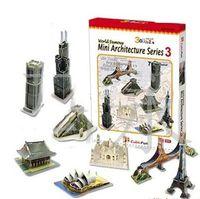 Wholesale 10pcs Le Cube Mini Series DIY D building three dimensional jigsaw puzzle paper membrane