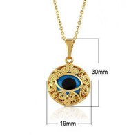 Wholesale Stylish popular Allah eye pendant gold Mosaic glass stone eye pendant